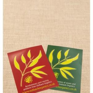 Outback Organics Post Wax Advice Card