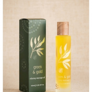 Green & Gold Massage Body Oil Relaxing