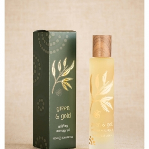 Green & Gold Massage Body Oil Uplifting