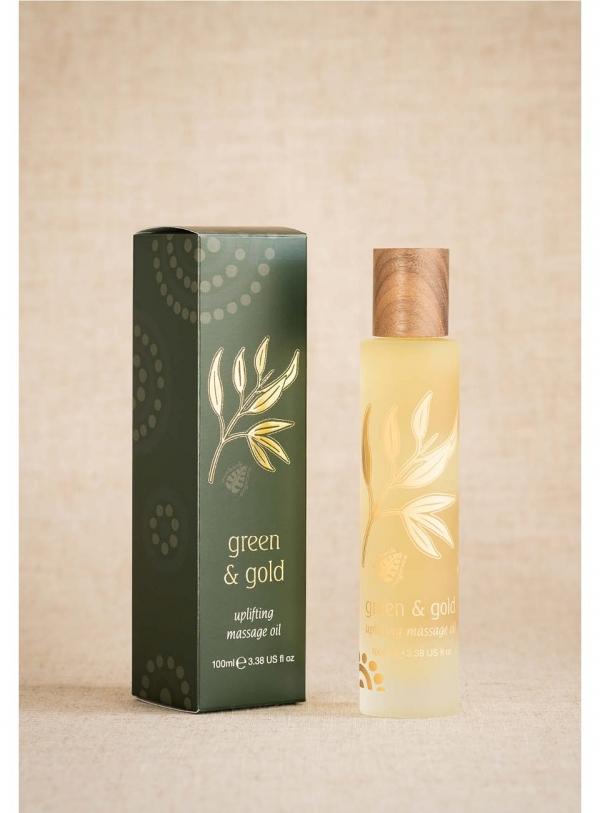 Green & Gold Massage Body Oil Uplifting